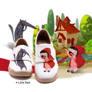 Little Red- Kids Art Painted Canvas Shoe