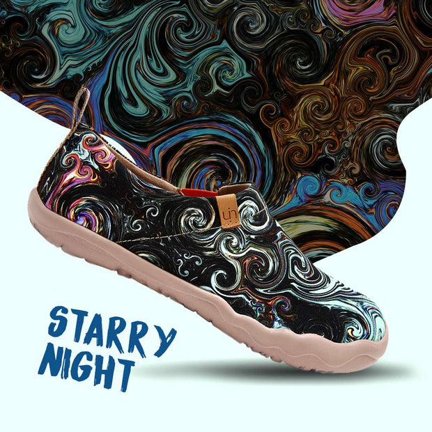 STARRY NIGHT Art Paint Women Canvas Shoe