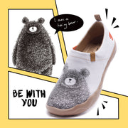 BE WITH YOU Cute Bear Female Flat Shoes
