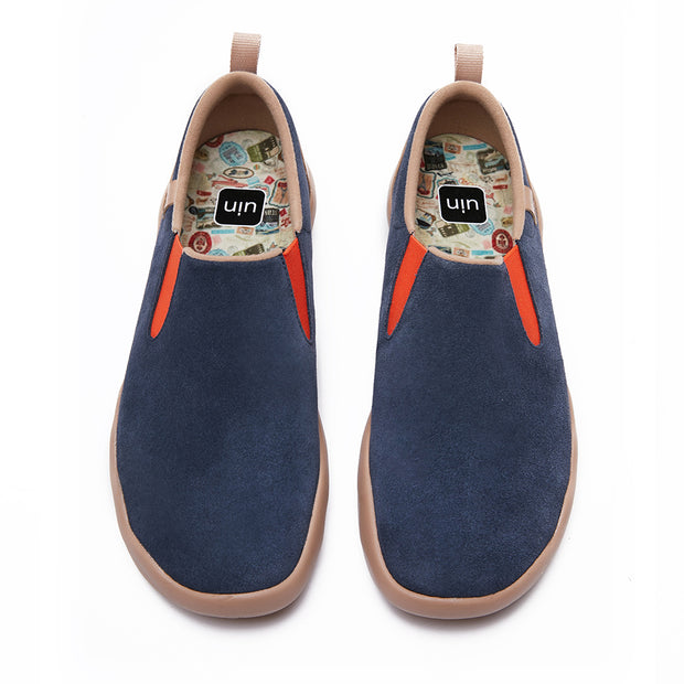 Cuenca Deep Blue Cow Suede Men