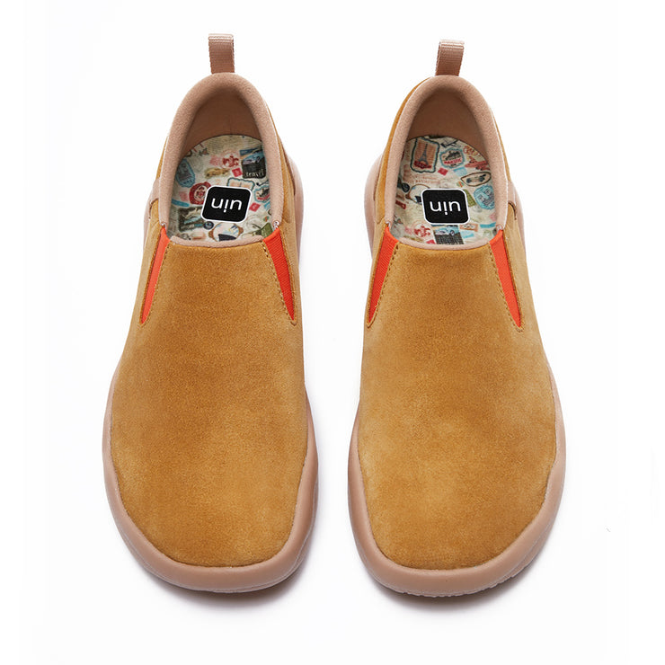 Cuenca Khaki Cow Suede Men
