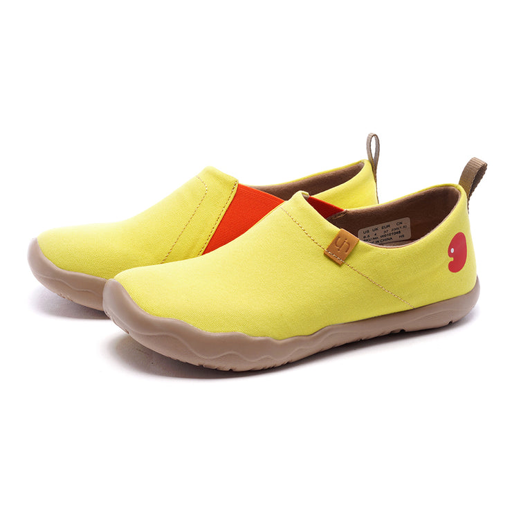Toledo Lemon Yellow- Women Canvas Casual Shoes