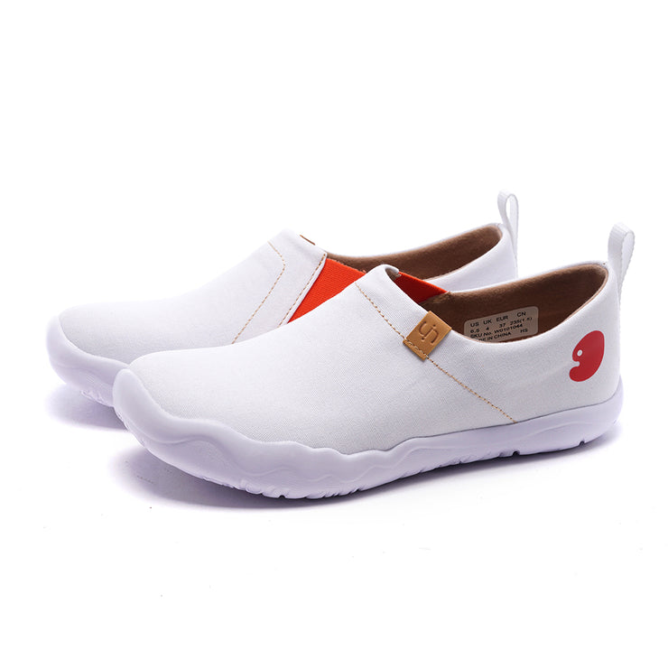 Toledo White- Women Men Canvas Casual Shoes