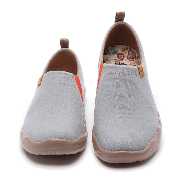 Toledo Grey- Men Art Painted Canvas Fashion Loafers