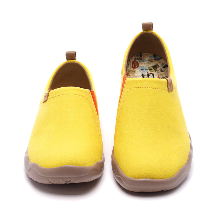 Toledo Yellow- Men Art Painted Canvas Fashion Loafers