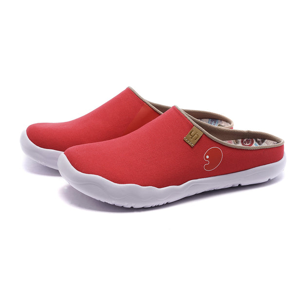Marbella Red Slipper- Women Canvas Casual Shoes