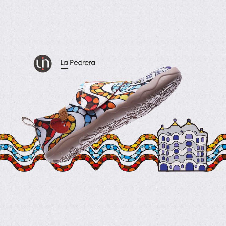 -LA PEDRERA- Kids Art Painted Canvas Shoe