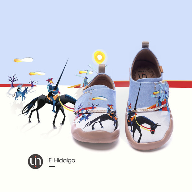 -El Hidalgo- Kids Art Painted Canvas Shoe