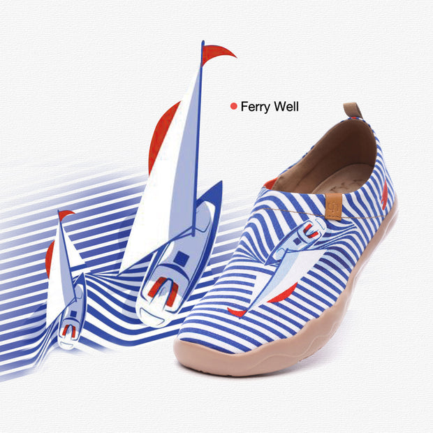 Ferry Well- Women's Canvas Art Painted Travel Shoes