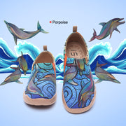 Porpoise - Women's Canvas Art Painted Travel Shoes