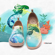 Mermaid- Women's Canvas Art Painted Travel Shoes