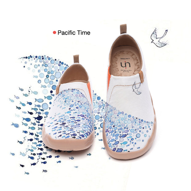 Pacific Time- Women's Canvas Art Painted Travel Shoes