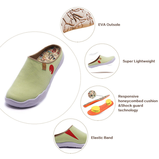 Marbella Light Green Slipper- Women Men Canvas Casual Shoes