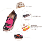-Hola- Classic Dot Female Canvas Shoes