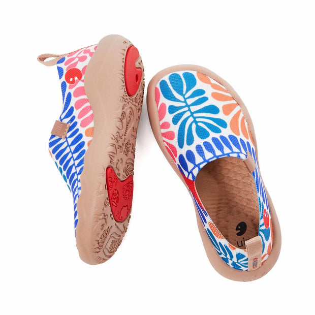 UIN Footwear Kid Bells Or Leave Kid Canvas loafers