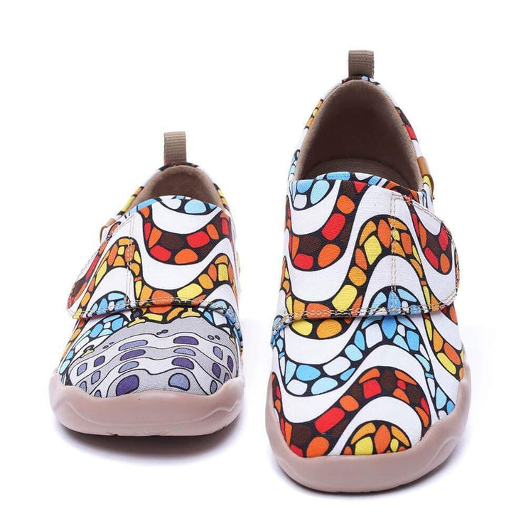 UIN Footwear Kid LA PEDRERA Kids Art Painted Canvas Shoes Canvas loafers