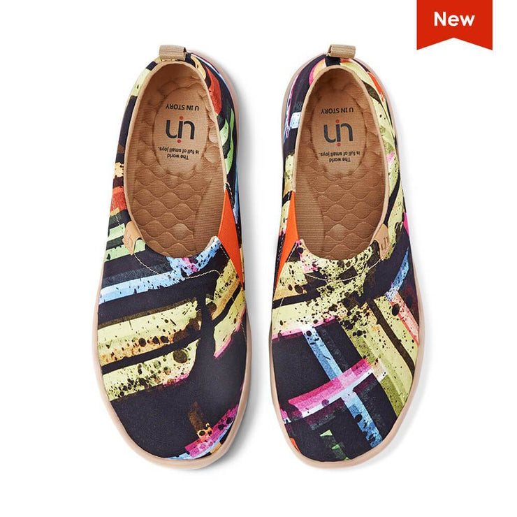 UIN Footwear Men Stripe Affair Canvas loafers