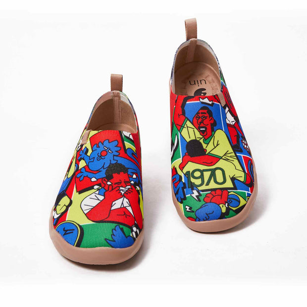 UIN Footwear Men World Cup Canvas loafers