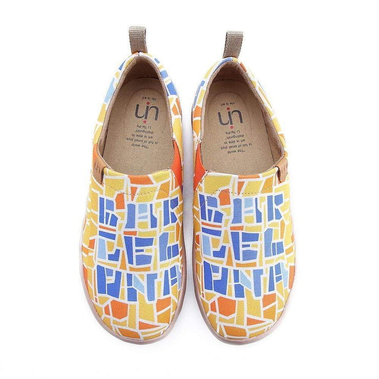 UIN Footwear Women Barcelona Code Painted Canvas Shoes Canvas loafers