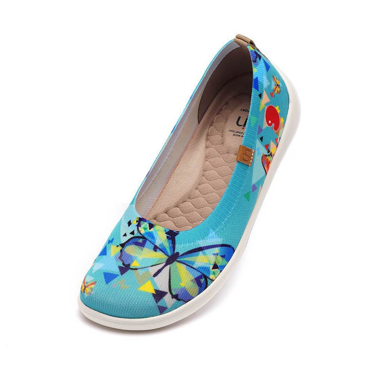 UIN Footwear Women Cubic Butterflies Canvas loafers