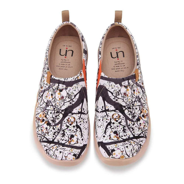 UIN Footwear Women POMEGRANATE Painted Caanvas Lady Sandals Canvas loafers