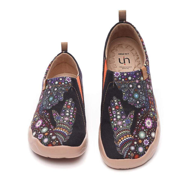 UIN Footwear Women Praying for Goodness Canvas Loafers for Women Canvas loafers