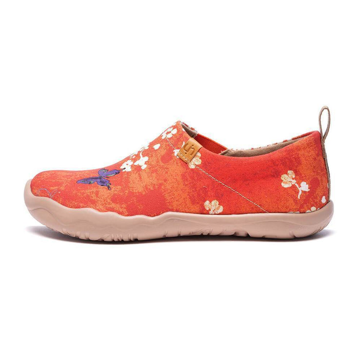 UIN Footwear Women -Sakura- Women Art Painted Walking Shoes Canvas loafers