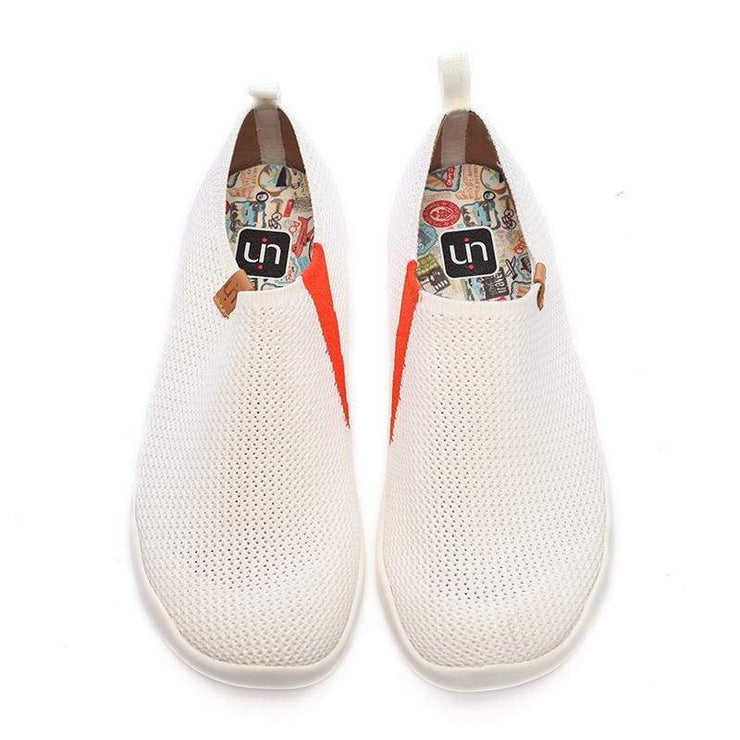 UIN Footwear Women Toledo-U KNIT White Canvas loafers