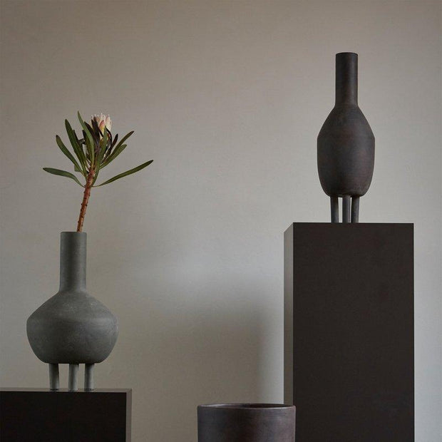 Duck Vase, Fat - Dark Grey freeshipping - Forom
