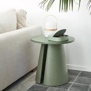 Wood Side table Cep Ø50cm - Black
