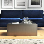 Tucson Brushed Stainless Steel Coffee Table