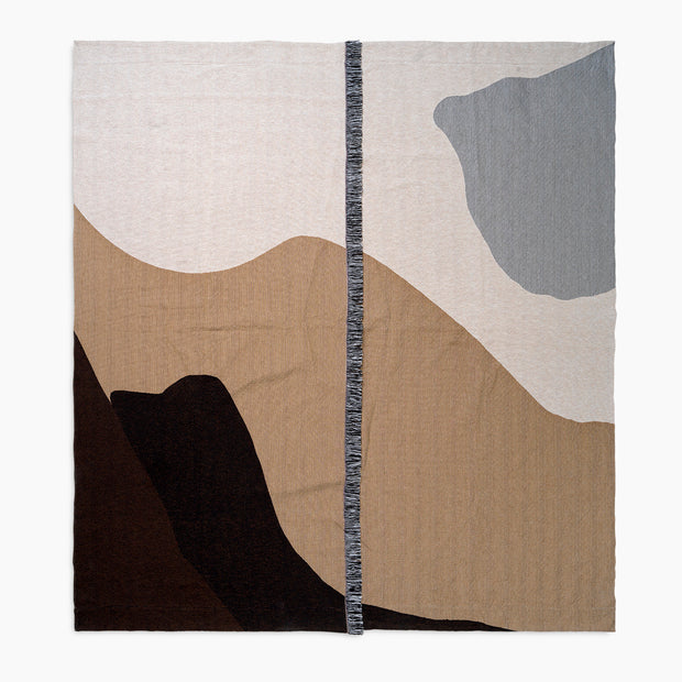 Vista Cotton Bedspread -  Sand | Off White / Black