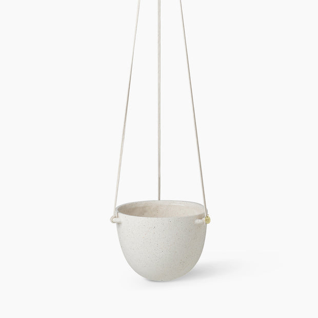 Speckle Hanging Pot - Off-White
