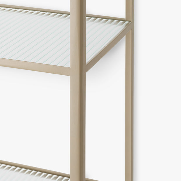 Haze Bookcase - Reeded glass - Cashmere