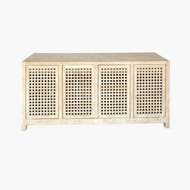 Driftwood Lattice Credenza freeshipping - Forom