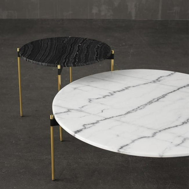 Pixie Black Marble Coffee Table freeshipping - Forom