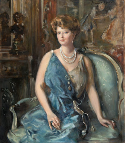 Portrait of Mrs. Mae Caldwell Manwaring Plant, by Claudia Munro Kerr, from an original by Alphonse Junger.Source: Hodinkee
