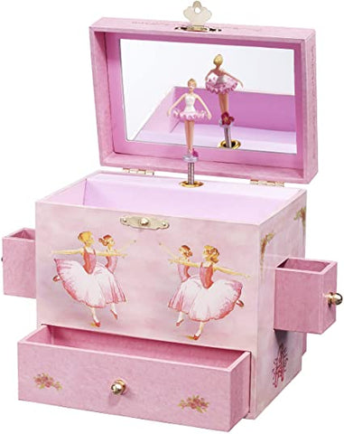 Vintage Ballerina Musical Jewelry Box