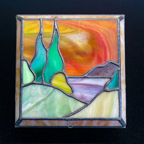 Vintage Stained Glass Jewelry Box from San Francisco