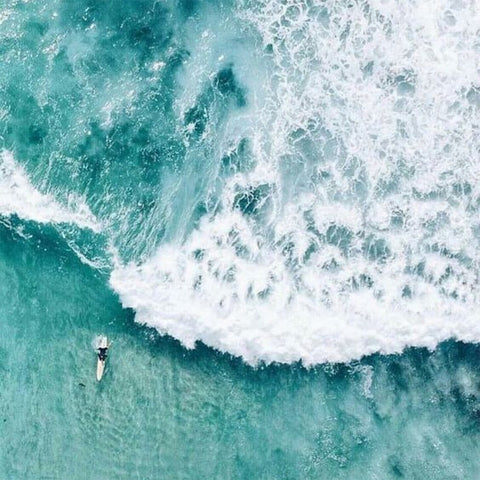 Ocean photo from a drone Jane Bartel Jewelry