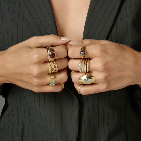 Rings designed by Jane Bartel Jewelry