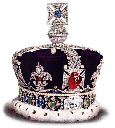 British Crown jewels with rubies