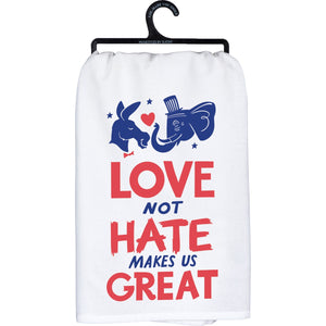 Dish Towel- Love Not Hate