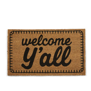 Welcome Y'all Door Mat