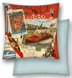 Motor Boating Kentucky Lake Pillow