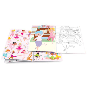 Dry Erase Coloring Book- Pretty Ballerina