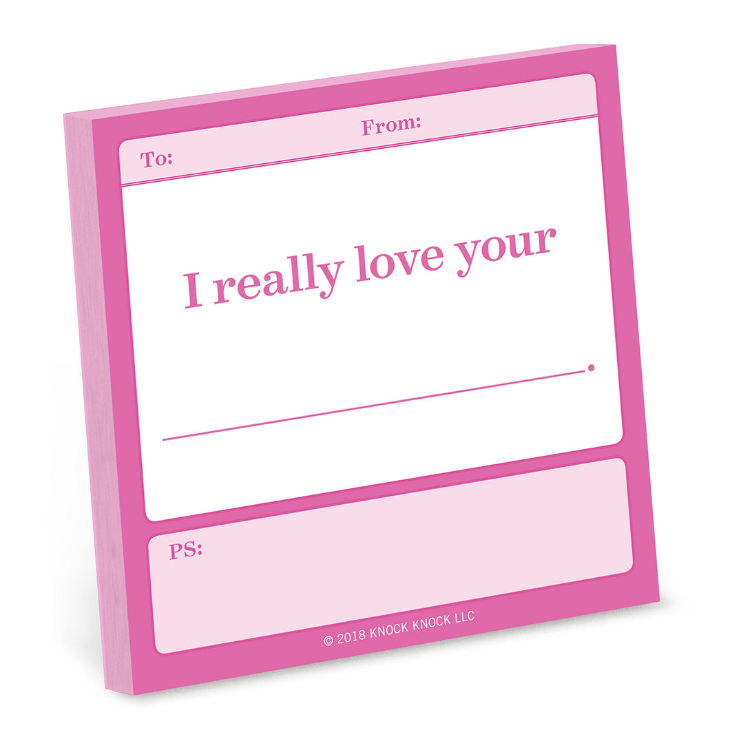 Fill In The Love Sticky Notes