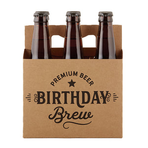 Birthday Brew Kraft Beer Carrier