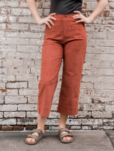 Honeyflower Rust Corduroy Pants