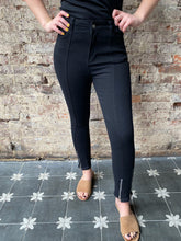 Load image into Gallery viewer, Kennedia Black Ankle Zip Jeans